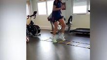 Foot - OL (F) - Vidéo : Ada Hegerberg (OL) de retour à l'entraînement
