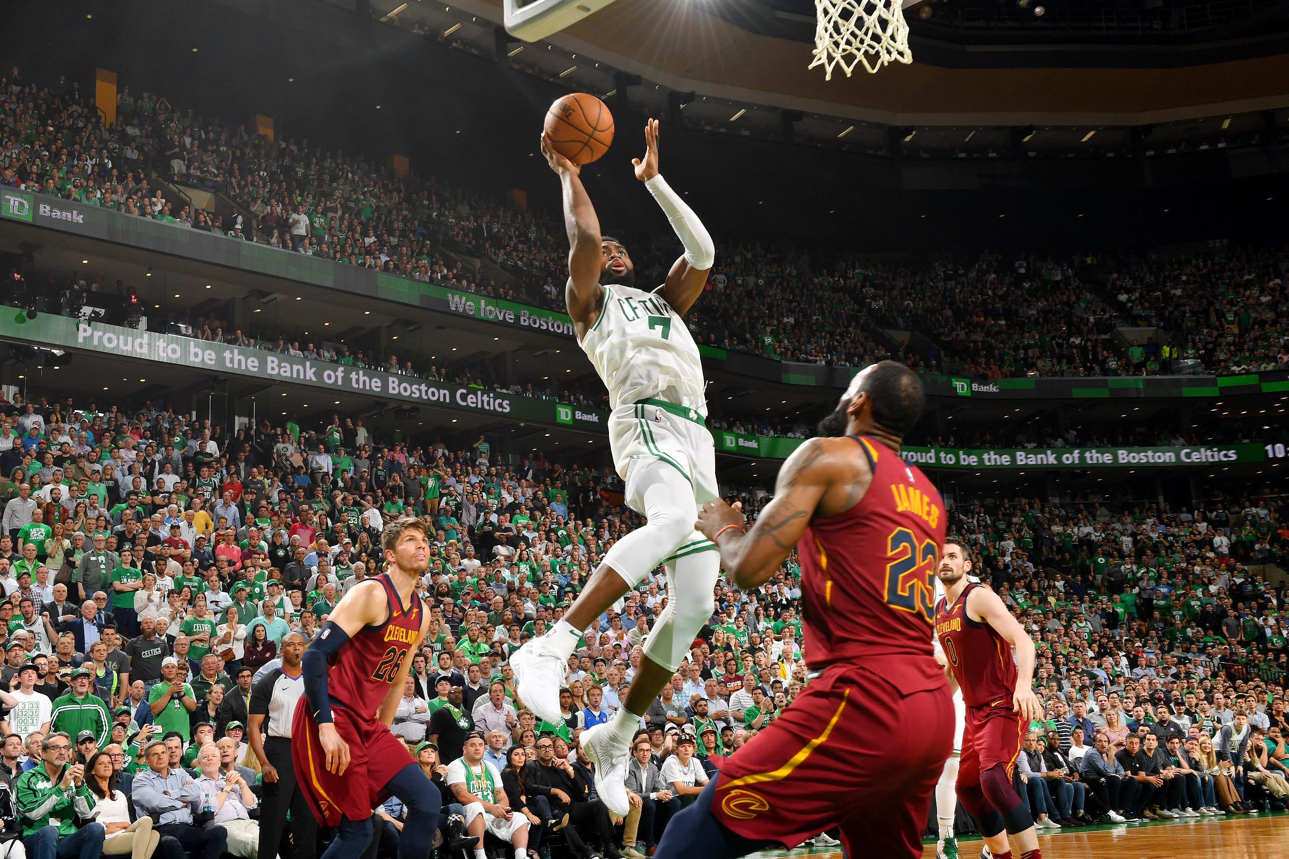 ac9666e076b The Celtics shook off a 40-point LeBron triple-double to take a 2-0 lead