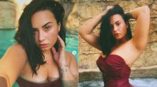 'Straight fire': Demi Lovato sizzles in swimsuit hot tub snap