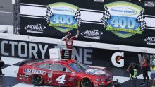 Harvick completes sweep of Michigan doubleheader