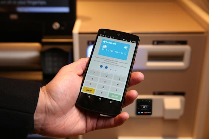 Barclays' new ATMs let you withdraw money with your phone