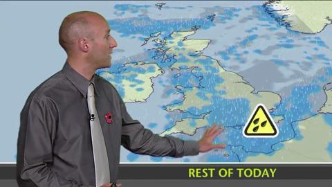 Friday afternoon's weather
