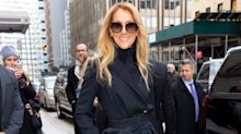 Céline Dion turns heads in thigh-high boots and a dramatic trench while in New York