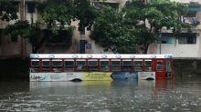 Heavy rain batters Mumbai disrupting rail and road traffic