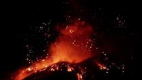 Raw: Italy's Mount Etna Erupts Again