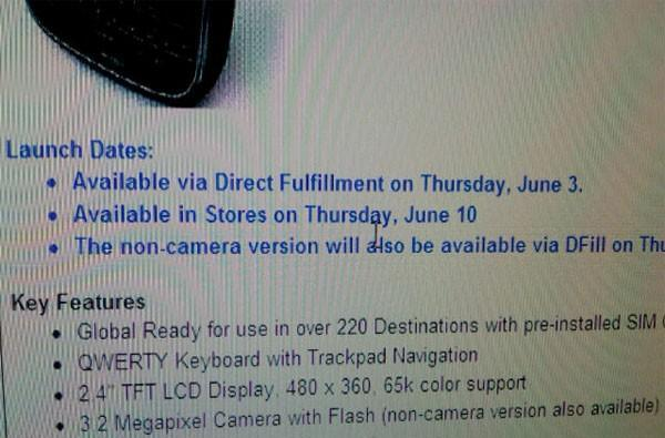 BlackBerry Bold 9650 sales kicking off on Verizon this week?