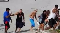 Justin Bieber on Panama beach after Florida arrest