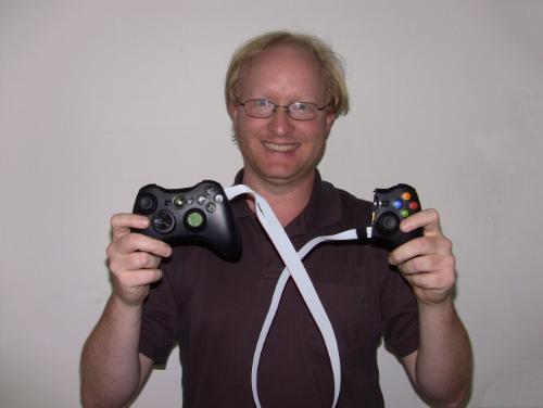 Ben Heck splits and condenses a pair of Xbox 360 controllers for the disabled
