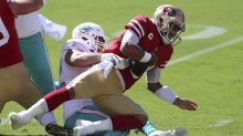 Jimmy Garoppolo benched after horrible first half for 49ers in his return from injury
