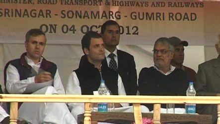 Rahul Gandhi lays foundation of Srinagar-Leh tunnel