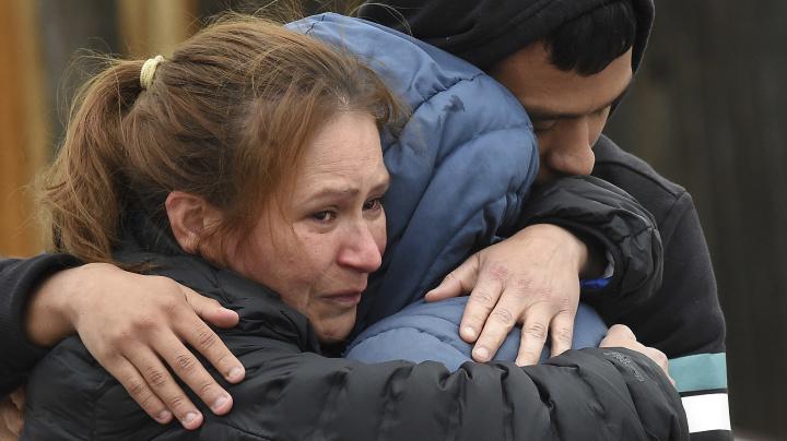 Massacre leaves 7 dead, but children were spared