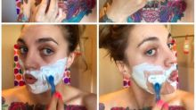 Woman Shares Empowering Post Of Her Shaving Her Face To Raise Awareness Of PCOS