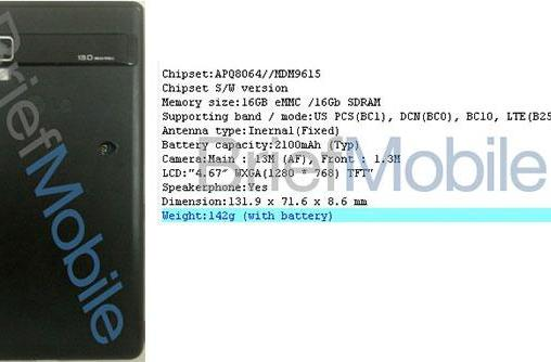 LG LS970 superphone rumored: Krait quad-core, 2GB RAM, LTE and 13MP camera
