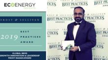 EcoEnergy Insights Recognized for Growth, Innovation and Leadership: Wins Prestigious Frost & Sullivan Best Practices Award
