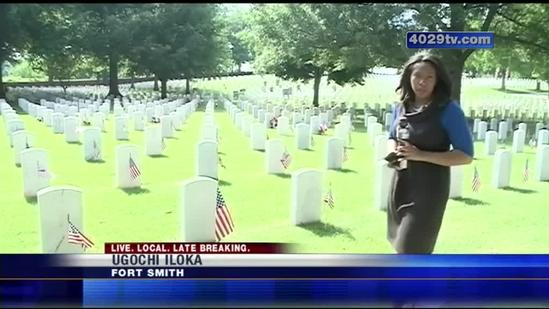 Memorial service for fallen soldiers in Fort Smith