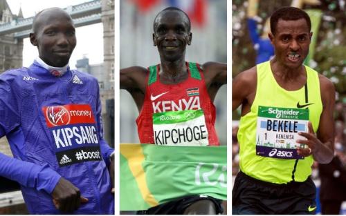 Wilson Kipsang, Eliud Kipchoge and Kenenisa Bekele are preparing to do battle in Berlin