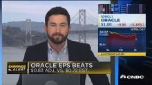 Oracle posts better than expected earnings