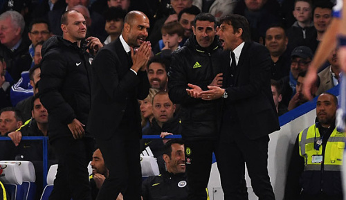 Premier League: Pep zofft sich mit Chelsea-Trainern