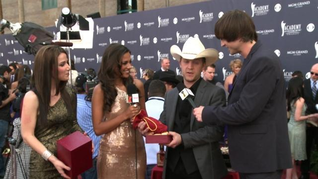 ACM Awards 2011- Justin Moore Red Carpet Interview
