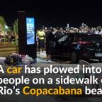 Car hits crowd at Brazil's Copacabana, killing baby
