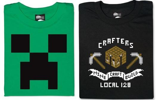 Official t-shirts provide uniforms for Minecrafting