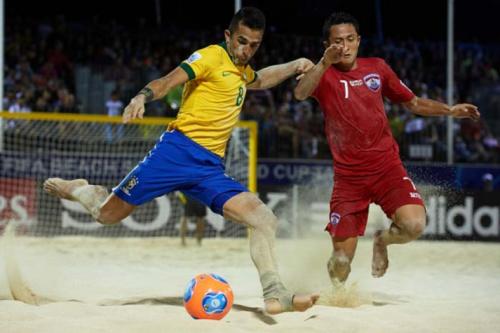 Invicto há 29 jogos, Brasil estreia na Copa do Mundo de beach soccer