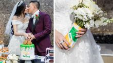 Subway-obsessed Aussie couple tie the knot in themed wedding