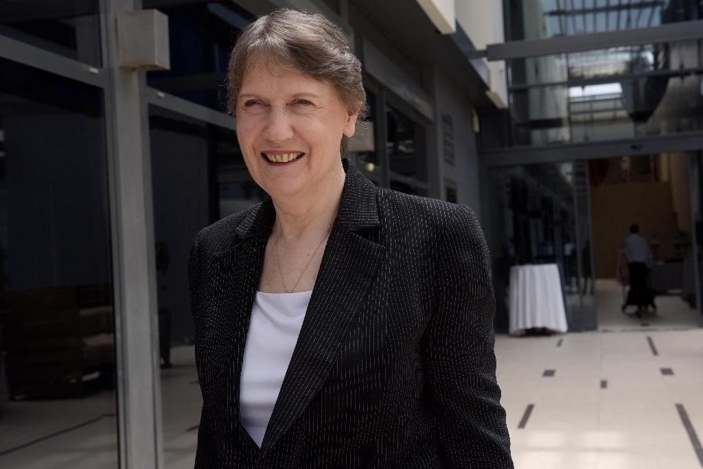 Former New Zealand Prime Minister Helen Clark, head of the United Nations Development Programme (UNDP), is among the frontrunners for the top UN job (AFP Photo/Seyllou)