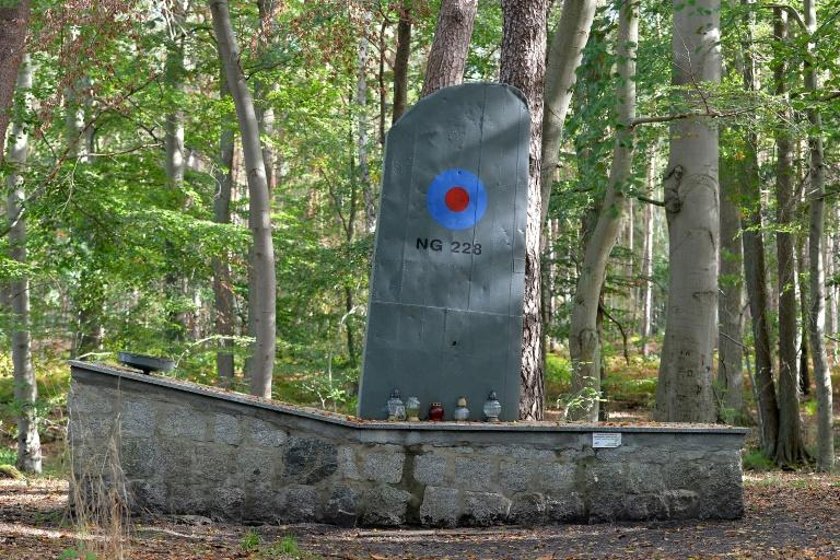 There is a memorial to Royal Air Force (RAF) pilots shot down by the German military during the April 1945 air-raid