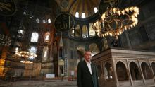 First Muslim prayer in Hagia Sophia after mosque reconversion