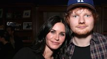 Ed Sheeran teases new music and fans think Courteney Cox is involved