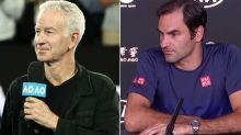 'Heard that for 10 years': Federer's brutal response to John McEnroe claim