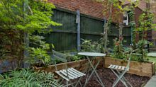 How we turned our squalid courtyard 'garden' into a low-budget urban idyll