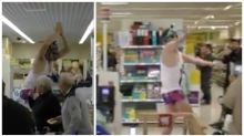 Man surprises supermarket shoppers with Baby Shark dance