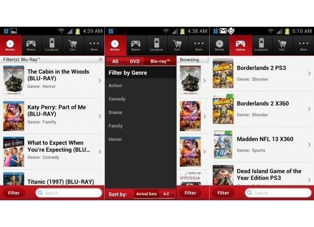 Redbox app for Android updated with a new UI and better filtering, no Instant streaming yet