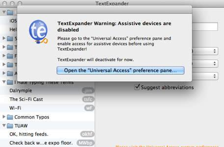 Getting TextExpander to work with Mavericks (Updated)