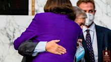 Democrats are furious at Dianne Feinstein for hugging Lindsey Graham and thanking him for a job well done after Amy Coney Barrett's confirmation hearings