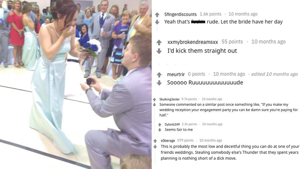 Bridesmaid steals bride's thunder with surprise proposal mid-wedding
