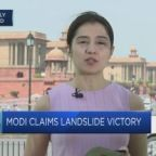 Modi claims landslide victory in India election