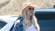 Jessica Simpson Rocks Daisy Dukes, Sky-High Heels & Cowgirl Hat to the Beach -- See Her Chic Country Look!