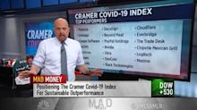 CNBC's Jim Cramer says a quick recovery is 'tough to bet on' — so here are the stocks he's recommending