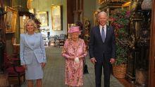 Queen welcomes Joe and Jill Biden for tea at Windsor Castle