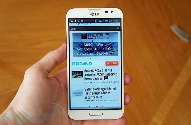 AT&T gets official with LG Optimus G Pro, available May 10th for $200 on-contract