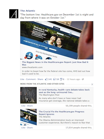 Facebook's News Feed: now with more relevant and oft-commented articles, fewer meme photos