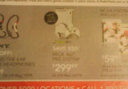 Xbox 360 price cut shows up in Radio Shack ad