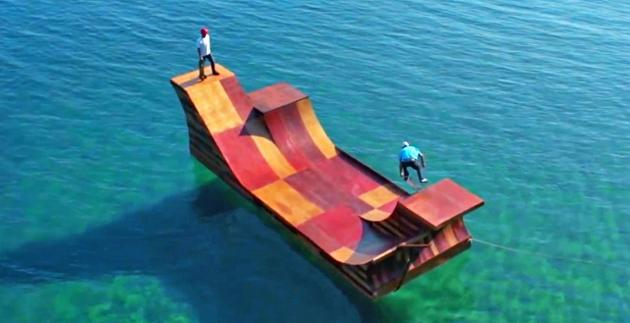 Inhabitat's Week in Green: floating skate ramp, foldable electric bicycle and a 3D-printed sneaker