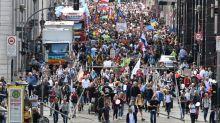 """Protestas en Europa contra la """"tiranía médica"""" de las mascarillas"""