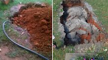 'Appalling': Woman horrified after cemetery 'floods' graves hours after burial