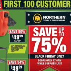 Northern Tool Black Friday 2018 Ad