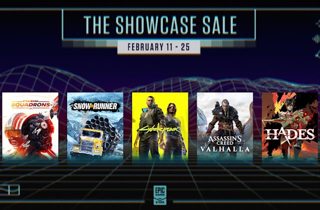 Epic Games is running a 'Spring Showcase' sale starting Thursday